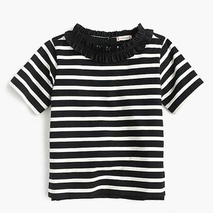 J.Crew: Girls' Ruffle-necklace Top